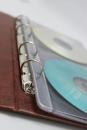 Альбом для 20 CD-дисков на кольцевом механизме, коричневый
