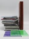 Альбом для 20 CD-дисков на кольцевом механизме, серый с городом